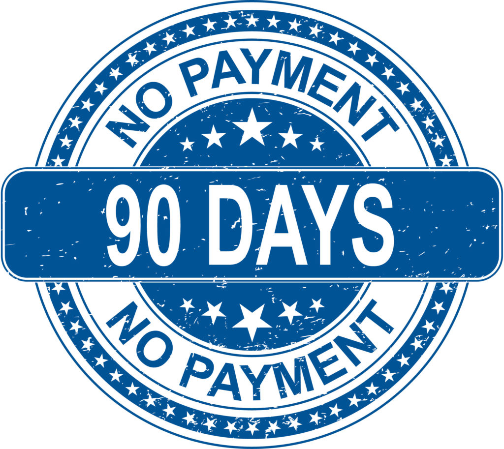 No Payments For 90 Days on closed end loans 09-01 to 10-15 2019